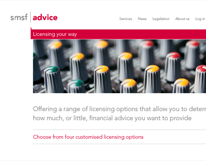 SMSF Advice | Website architecture and design