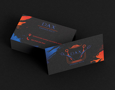 Business Card For DAX Barber Shop