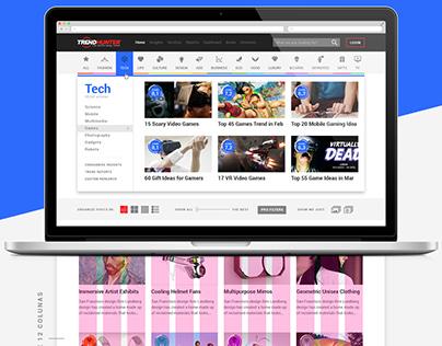TrendHunter / Lifehacker - Homepage Redesign