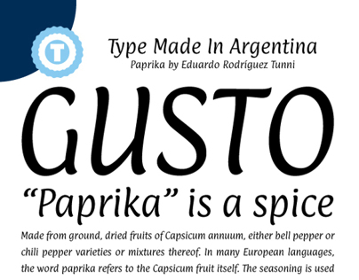 PAPRIKA - Free Google Web Font