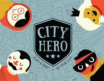 City Hero - role playing card game for children