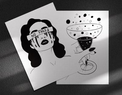 Minimalism illustrations