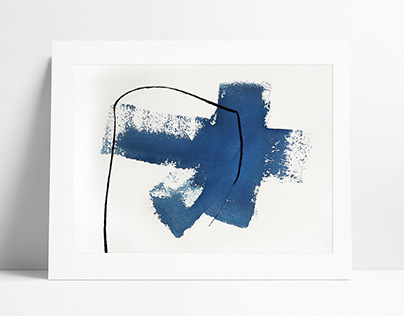 Engravings Collection | Blue | Printmaking