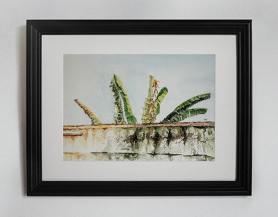 Banana Leaves - Original Watercolor