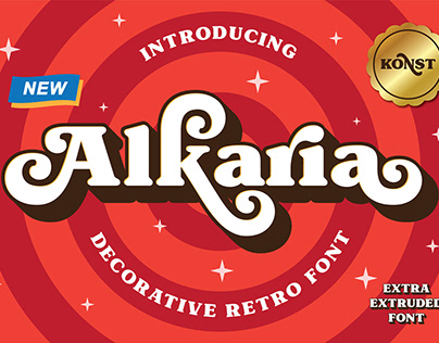 Alkaria - Vintage Retro Decorative Font