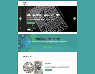 WordPress website for Young Artist School