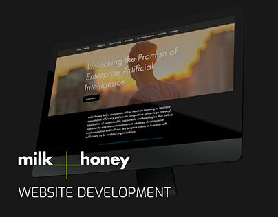 milk+honey Website Development Project