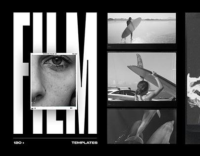 Film Frames & Instant Template