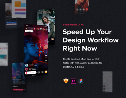Jazam - Social mobile app UI Kit