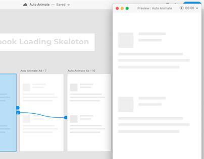 Facebook Loading Skeleton in Adobe Xd