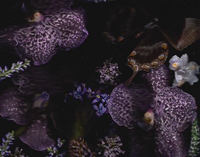 FLOWER IN CHARGE|PAPILLION AVEC FLEUR II