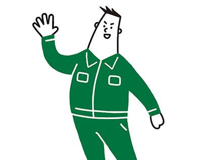 Character Illustration / Mr.HIKARI