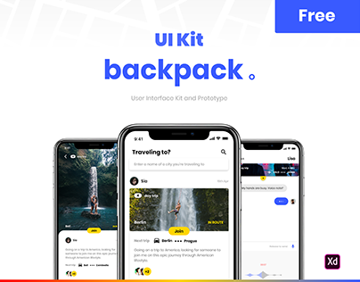 Backpack - UI Kit Free for Adobe XD