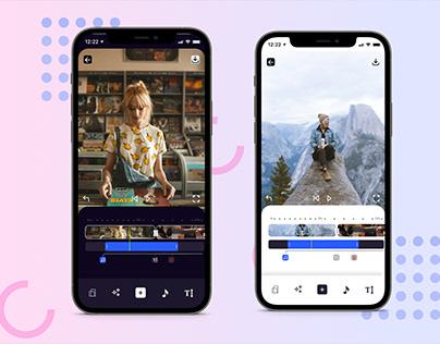 Video Editor App Design | iOS Interactive UI & UX