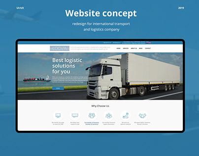 International transport and logistics company website