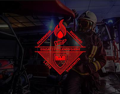 Duisburg fire brigade emergency site hygiene Logo