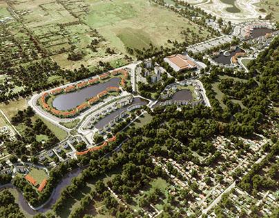 Community landscape rendering