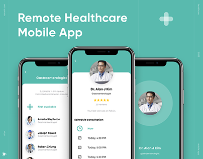 UI/UX for Remote Health App