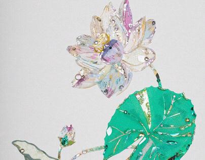 "Flowers""Water lily""""Wisteria""""Hydrangea"""