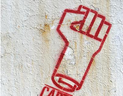 Taller de cartel, activismo y stencil