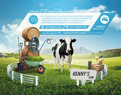 Yili Milk_Satine Organic Ranch