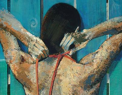 """""""Ambiguous 1"""" Acrylic on Canvas 80Hx60Wx2 [cm]"""