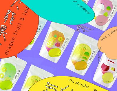果乾包裝視覺設計 Fruit Jerky Package Design