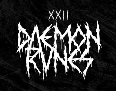 XXII DAEMON RUNES - Font