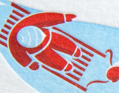 Letterpress Xmas Card