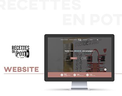 Recettes en pot - Web design