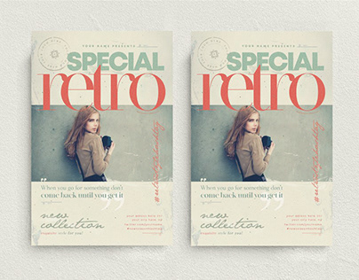 Special Retro Flyer Template