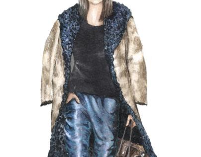 Celebrity Stylist Fashion Illustrations