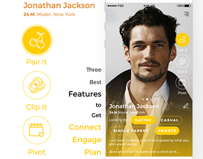 Dating app UX research, Ideation, IA, Visual Design