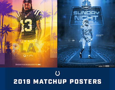 2019 Indianapolis Colts Matchup Posters