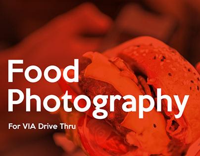 Food Photography For VIA Drive Thru