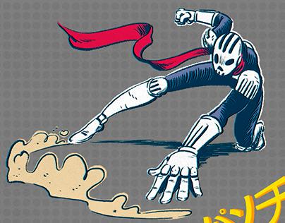Skull Rider. Illustration.