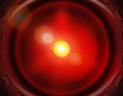 Hal 9000, the eye illustration in vector