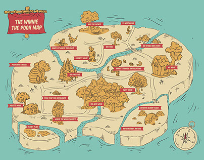 """""""The Winnie The Pooh Map"""""""