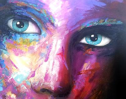 Face - Oil on canvas