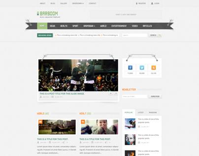 Barsoom - PSD Template