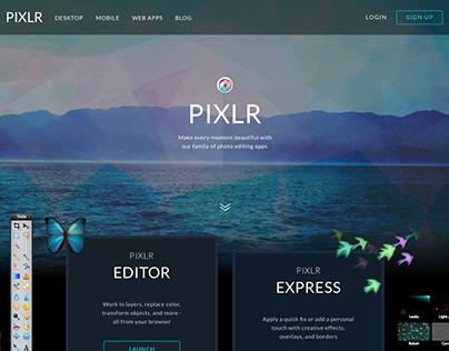 2014 Pixlr Homepage