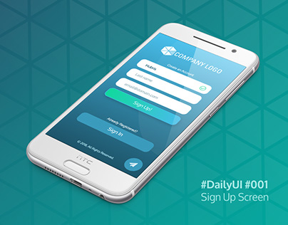 Daily UI: 001 - Sign Up Screen