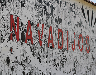 Mural in Navadijos. Spain.