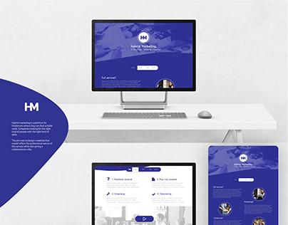 Hybrid Marketing website