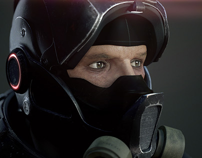 Sience Fiction Trooper [Portrait]