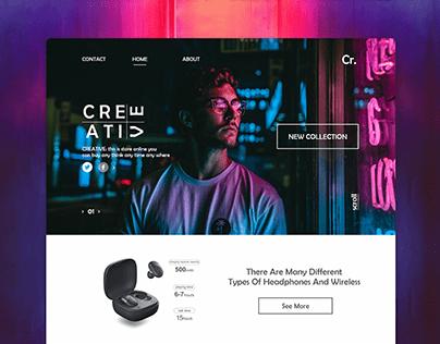 neon website (home-sign-up-login....)