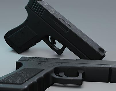 Modelagem Pistola Glock 9mm