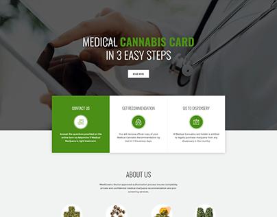 Cannabis website design