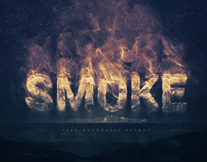 Smoke Logo Text Effect for Adobe Photoshop