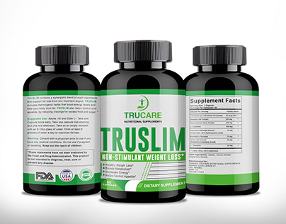 Supplement label design with free mockup